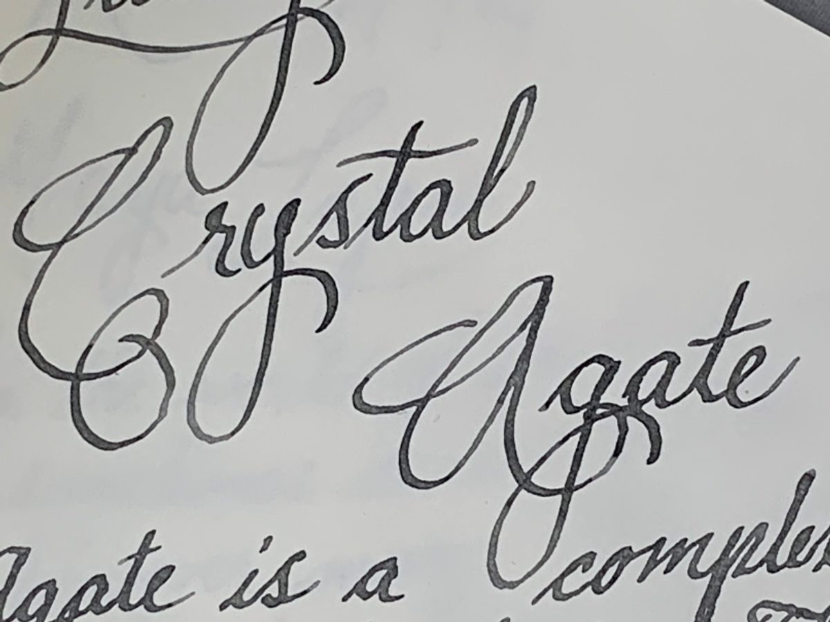 Ink Review: Lamy Crystal Agate